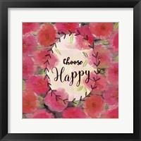 Framed Choose Happy