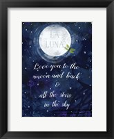 Framed Love you to the Moon