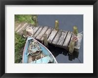 Framed Docked Boat
