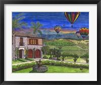 Framed Vineyard Balloons