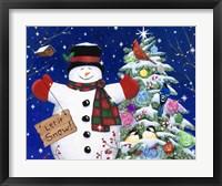 Framed Let it snow man