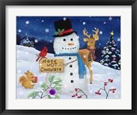Framed Hot Chocolate Snowman
