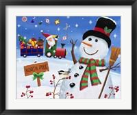 Framed Noth Pole Snowman