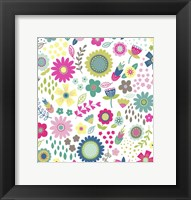 Framed Floral Pattern 1