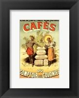 Framed Cafes du Comptoir des Colonies