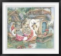 Framed Swan Boat