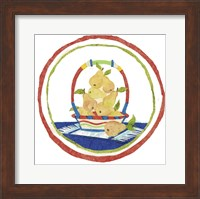 Framed Pear Basket Circular Collage