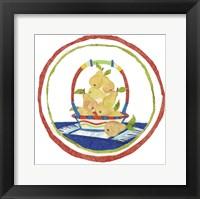 Framed Pear Basket Circular Collage