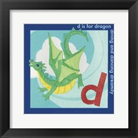 Framed D is For Dragon