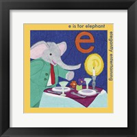 Framed E is For Elephant