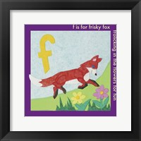 Framed F is For Fox