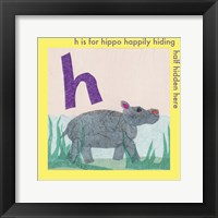 Framed H is For Hippo