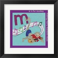 Framed M is For Monkey