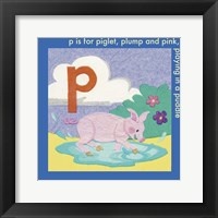 Framed P is For Piglet