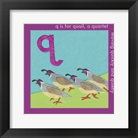 Framed Q is For Quail