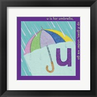 Framed U is For Umbrella