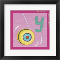 Framed Y is For Yoyo
