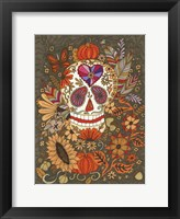 Framed Autumn Skull