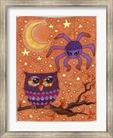 Framed Halloween Owl And Spider