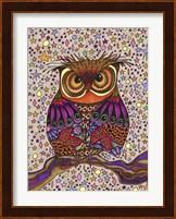 Framed Starry Night Owl