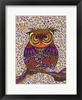 Framed Starry Night Owl