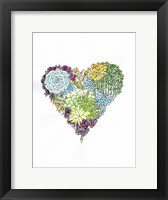 Framed Watercolor Botanical Heart