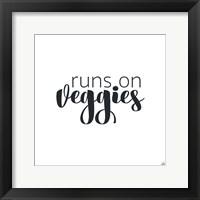 Framed Runs On Veggies
