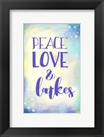 Framed Peace Love Latkes