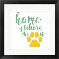 Framed Home Is Where The Paw Is