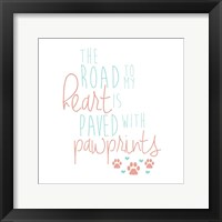 Framed Paved With Pawprints