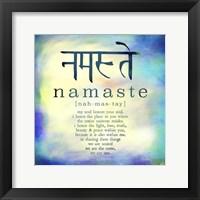Framed Namaste