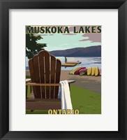 Framed Muskoka Lakes