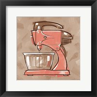 Framed Mixer-  Coral & Brown