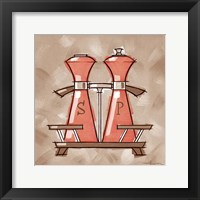 Framed Salt & Pepper - Coral & Brown