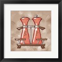 Framed Salt & Pepper - Coral & Brown