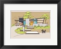 Framed Mid-Century House #1 - Chrysler Black Dog