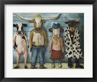 Framed Cattle Line Up