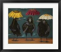 Framed Ravens Rain