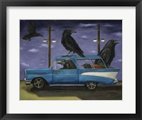Framed Ravens Ride