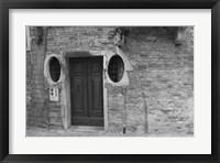Framed Venice Doorway B&W