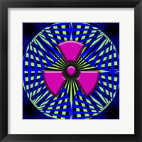 Black Light Pattern Framed Print