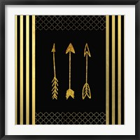 Framed Black & Gold - Feathered Fashion Arrow