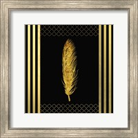 Framed Black & Gold - Feathered Fashion