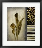 Framed Gold Lily 1