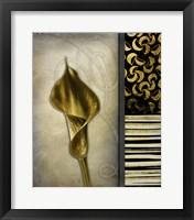 Framed Gold Lily 2