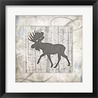 Framed Decorative Lodge Moose 2