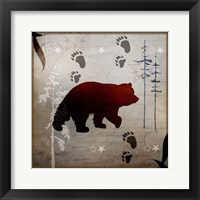 Framed Bear Tracks