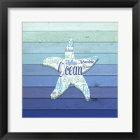 Framed Gypsy Sea Blue V2 4