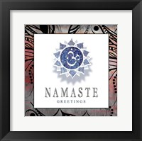 Framed Chakras Yoga Framed Namaste V2