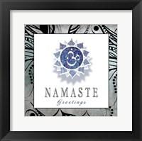 Framed Chakras Yoga Framed Namaste V3